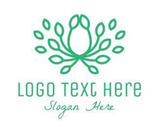 Ornament - Green Leaf Crown logo design