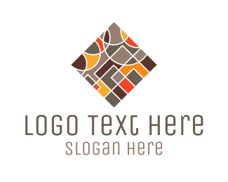 Fudge - Square Tile logo design