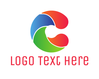 Surfer - Colorful Wave C logo design