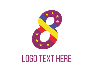 Number - Purple Eight logo design