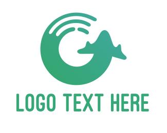 Airport - Round Plane logo design