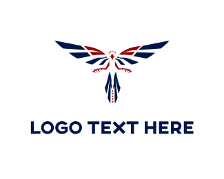 Flag - Blue Eagle logo design