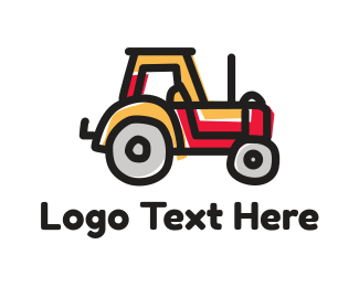 Toy - Little Red Tractor logo design