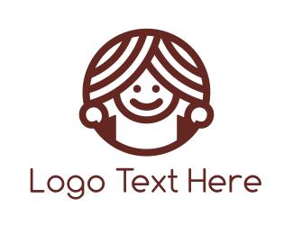 Doughnut - Donut Girl logo design