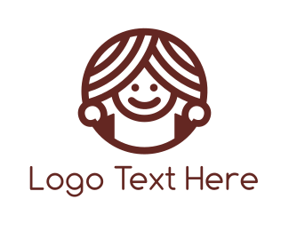 Sweets - Donut Girl logo design