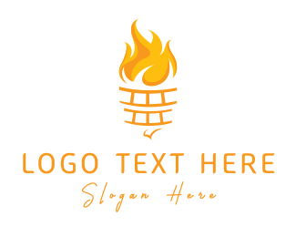 Olympic - Yellow Torch logo design