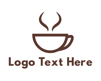 Cappuccino - Brown Cup Coffee logo design