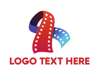 Entertainment Industry - Film Ribbon logo design