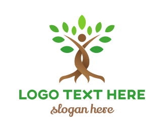 Therapy - Brown Twisted Tree  logo design