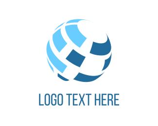 Planet - Blue Globe logo design