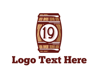 Whiskey - Nineteen Barrel  logo design