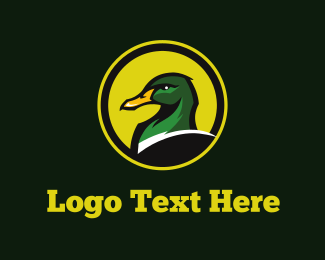 Soccer - Green Duck logo design