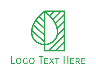 Sustainability - Minimalist Green Plant logo design