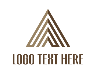 Maze - Brown Pyramid logo design