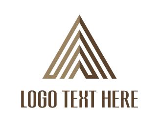 Pyramid - Brown Pyramid logo design
