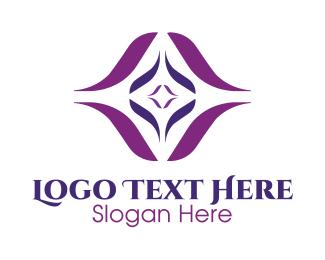 Outer Space - Violet Diamond Star logo design