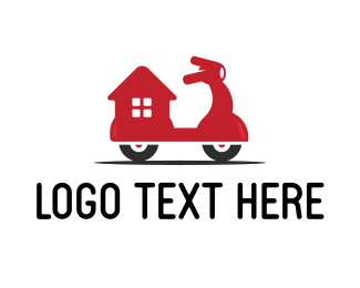 Scooter - Home Delivery logo design
