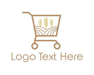 Wheat - Grain Market logo design