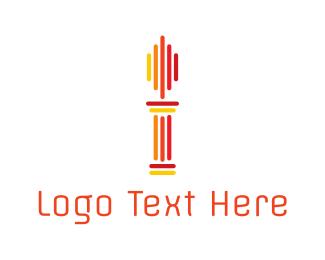 Law - Pillar Torch logo design