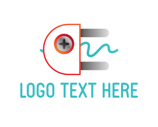 Plug In - Electrical Plug logo design