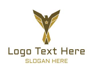 Politics - Combat Eagle Emblem logo design