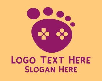 Foot - Brown Foot Step Controller logo design