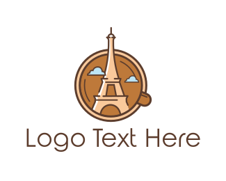 Paris - Eiffel Mug logo design
