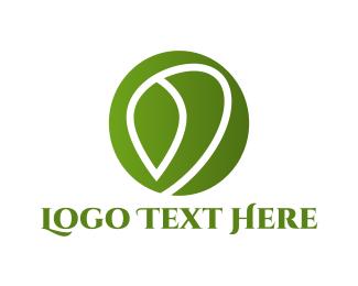 Vegan - Leaf Circle logo design