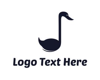 Swan - Musical Swan logo design