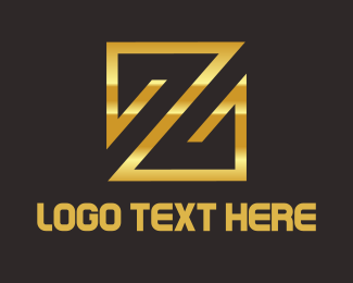 Fortune - Gold Z Emblem logo design