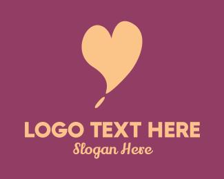 Relationship - Pink Heart logo design