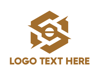 Screw - Gold Mechanical Hexagon logo design