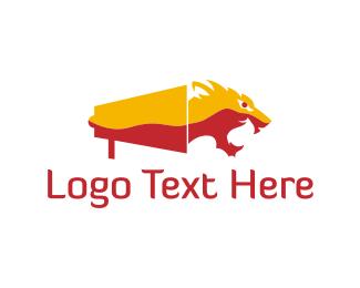 Roar - Tiger Megaphone logo design
