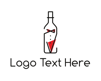Gentleman - Bottle Suit logo design