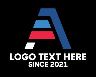America - Abstract Letter A logo design