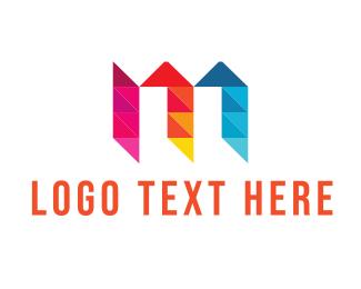 Crystal - Letter M Diamond logo design