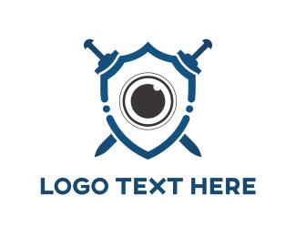 Lens - Lens Shield logo design