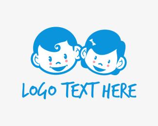 Funny - Cute Kids logo design
