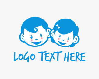 Family - Cute Kids logo design