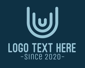 Letter U - White Letter U logo design
