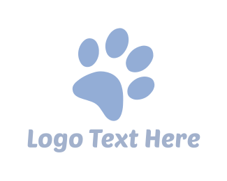 Pet Sitting - Blue Paw logo design
