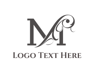 Royalty - Floral Letter M logo design