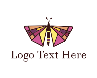 Bug - Butterfly logo design