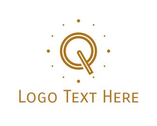 Time - Brown Letter Q logo design