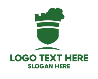 School - Green Shield  logo design