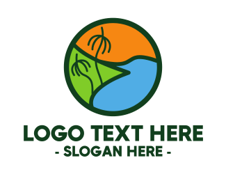Island - Island Beach logo design