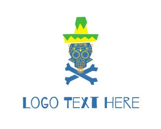 Bone - Mexican Skull logo design