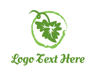 Grapevine - Green Leaf logo design