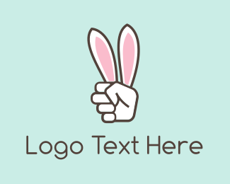 Hollywood - Hand Rabbit Ears logo design