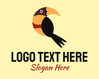 Feather - Tropical Bird logo design
